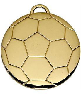 """Gold Football Medal 40mm (1.5"""")"""