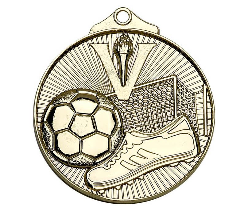 "Gold Horizon Football Medal 52mm (2"")"