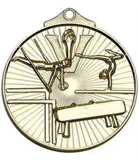 "Gold Horizon Gymnastics Medal 52mm (2"")"