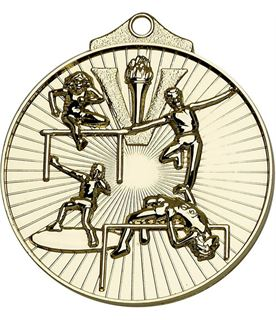 "Gold Horizon Athletics Track & Field Medal 52mm (2"")"