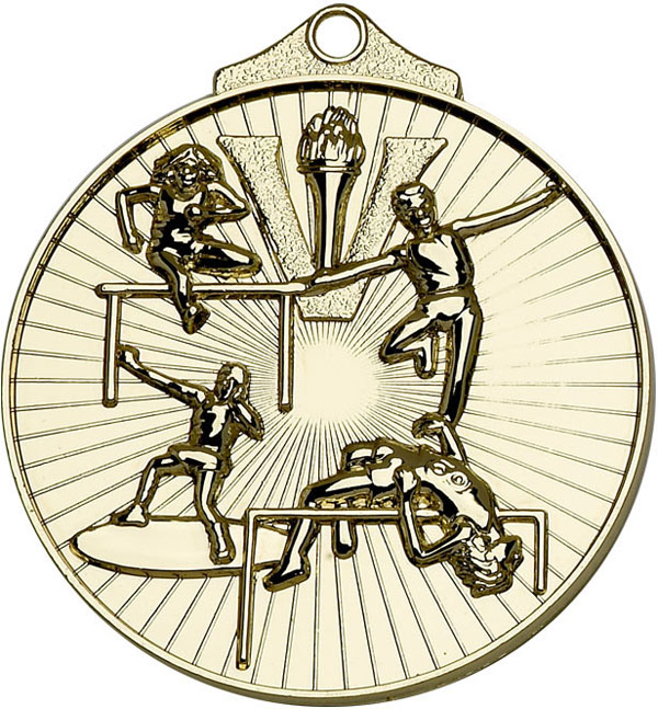 "Gold Horizon Athletics Track & Field Medal 52mm (2"")"