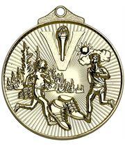 "Gold Horizon Running Cross Country Medal 52mm (2"")"