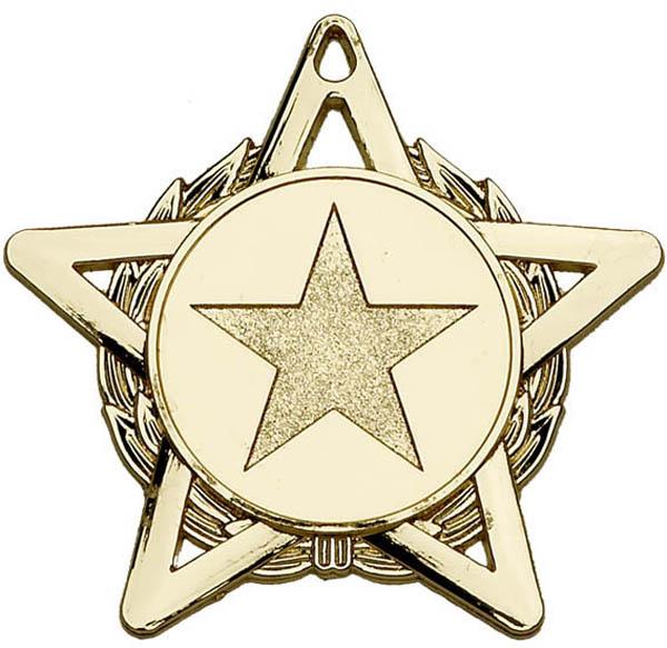 """Gold Hope Star Medal 50mm (2"""")"""