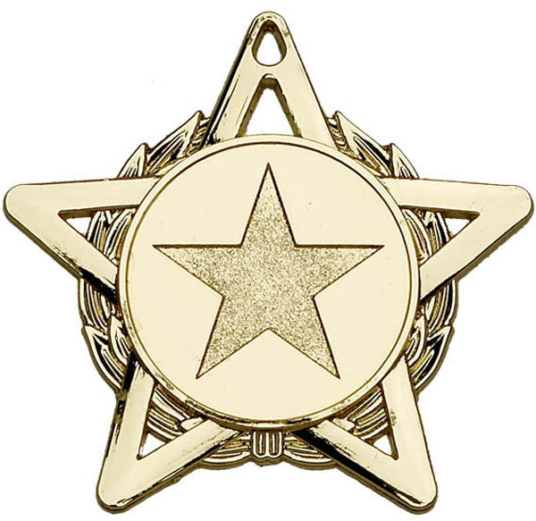 "Gold Hope Star Medal 50mm (2"")"