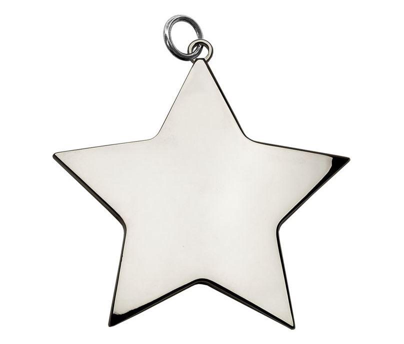 "Silver High Polish Star Achievement Medal 68mm (2.75"")"