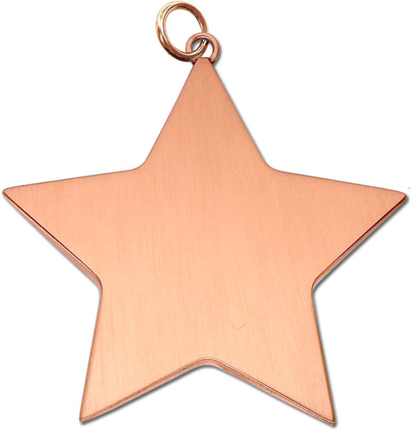 "Bronze High Polish Star Achievement Medal 68mm (2.75"")"
