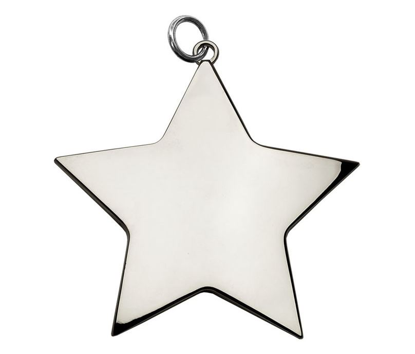 "Silver High Polish Star Achievement Medal 54mm (2.25"")"