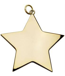 "Gold High Polish Star Achievement Medal 54mm (2.25"")"