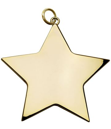 "Gold High Polish Star Achievement Medal 54mm (2.25"")"