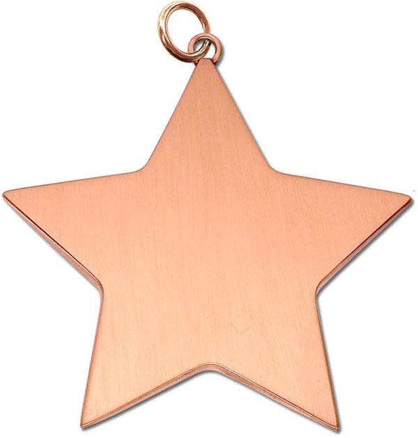 "Bronze High Polish Star Achievement Medal 54mm (2.25"")"