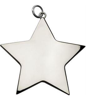 "Silver High Polish Star Achievement Medal 80mm (3.25"")"