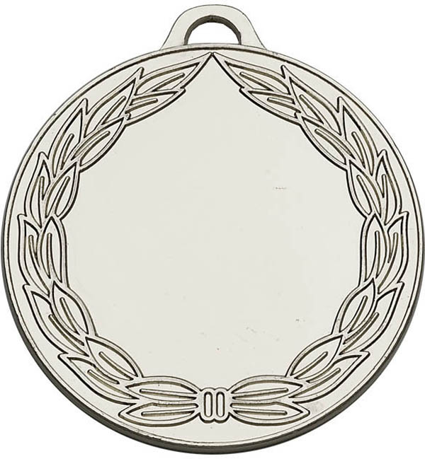 "Silver Classic Wreath Medal 50mm (2"")"
