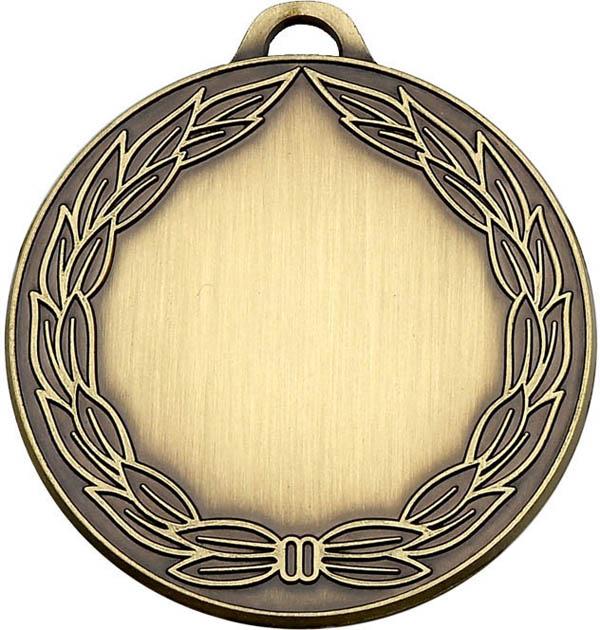"Bronze Classic Wreath Medal 50mm (2"")"
