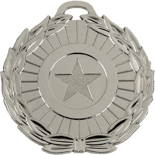"Silver Mega Star 70 Medal 70mm (2.75"")"