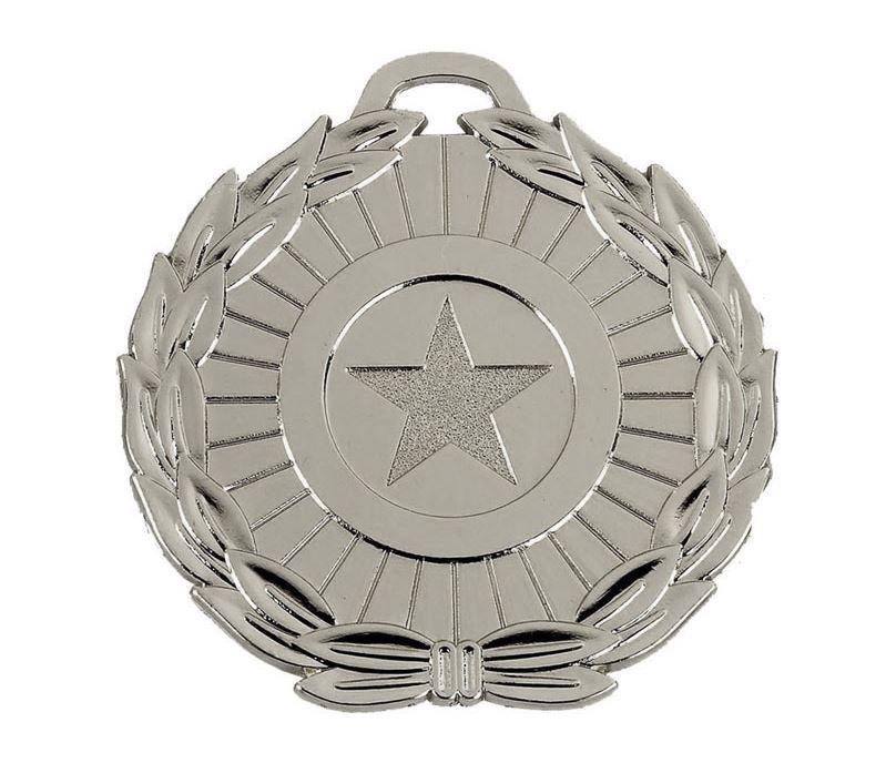 "Silver Mega Star 70 Medal 70mm (2.75"")"