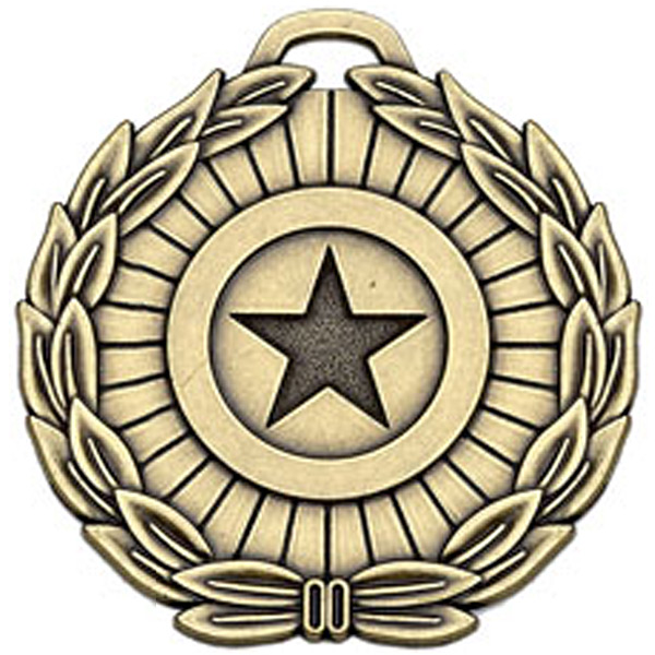 "Bronze Mega Star 70 Medal 70mm (2.75"")"