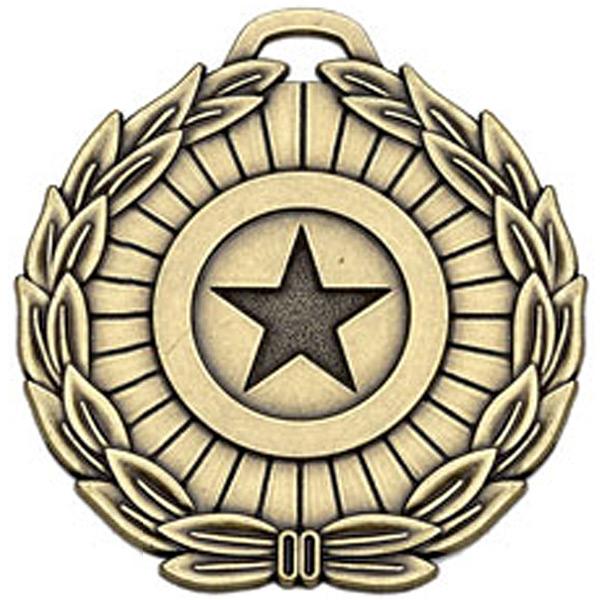 "Bronze Mega Star 70 Medal 7cm (2.75"")"