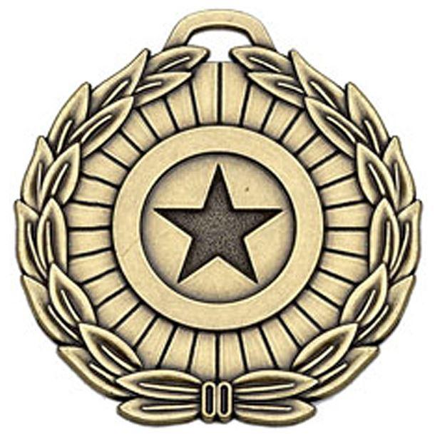 "Bronze Mega Star 70 Medal 70mm (2.75"")"