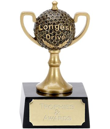 "Longest Drive Golf Ball Cup Award 12cm (4.75"")"