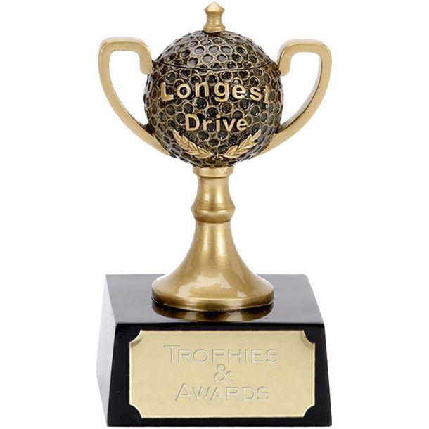 "Longest Drive Golf Ball Cup Award 12cm (4.75"")"