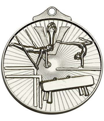 "Silver Horizon Gymnastics Medal 52mm (2"")"