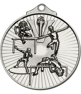 "Silver Horizon Athletics Track & Field Medal 52mm (2"")"