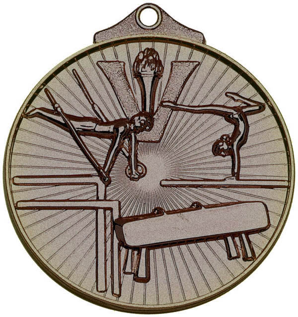 "Bronze Horizon Gymnastics Medal 52mm (2"")"