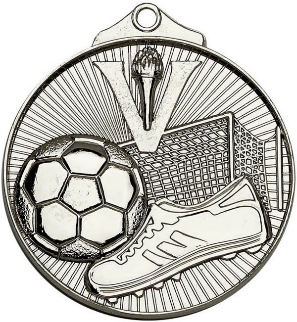 "Silver Horizon Football Medal 52mm (2"")"