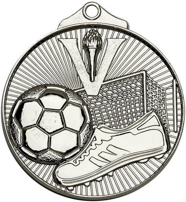 "Silver Horizon Football Medal 52mm (2"")"