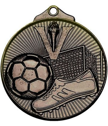 "Bronze Horizon Football Medal 52mm (2"")"