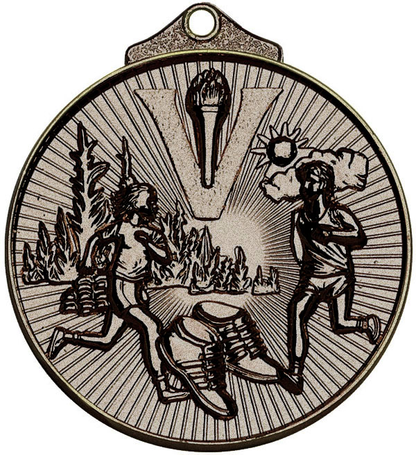 "Bronze Horizon Running Cross Country Medal 52mm (2"")"