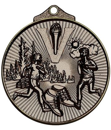 "Bronze Horizon Running Cross Country Medal 52mm (2"")"
