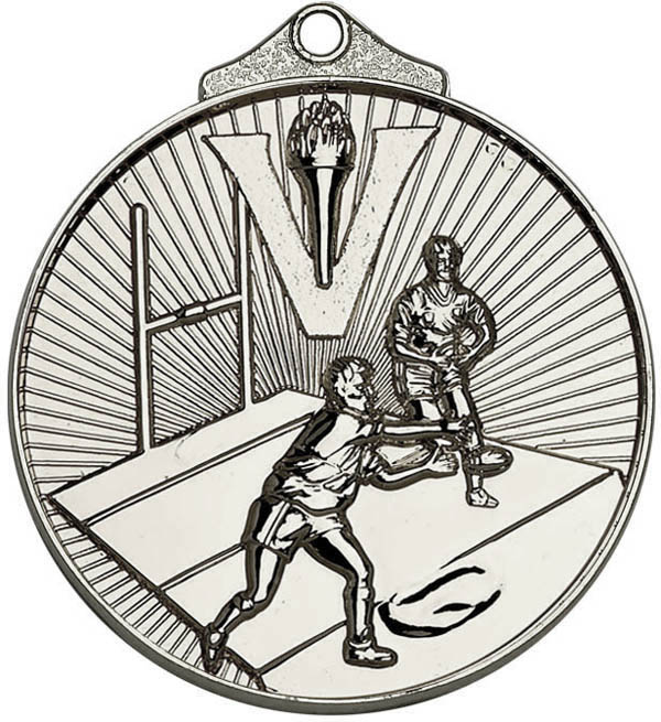 "Silver Horizon Rugby Medal 52mm (2"")"