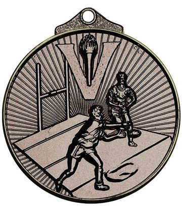 "Bronze Horizon Rugby Medal 52mm (2"")"