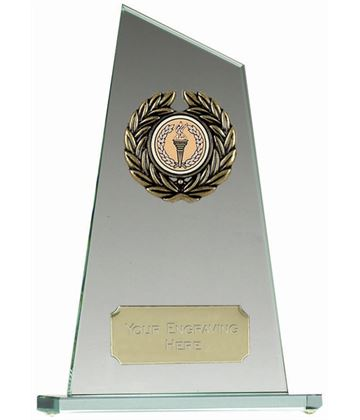 "Glass Award with Angled Edge 25cm (10"")"