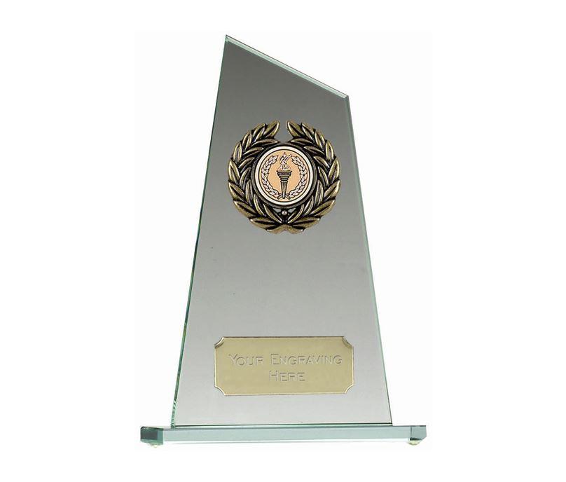 "Glass Award with Angled Edge 25cm (10"")"