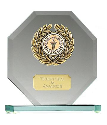 "Glass Award Hexagonal Design 15cm (6"")"