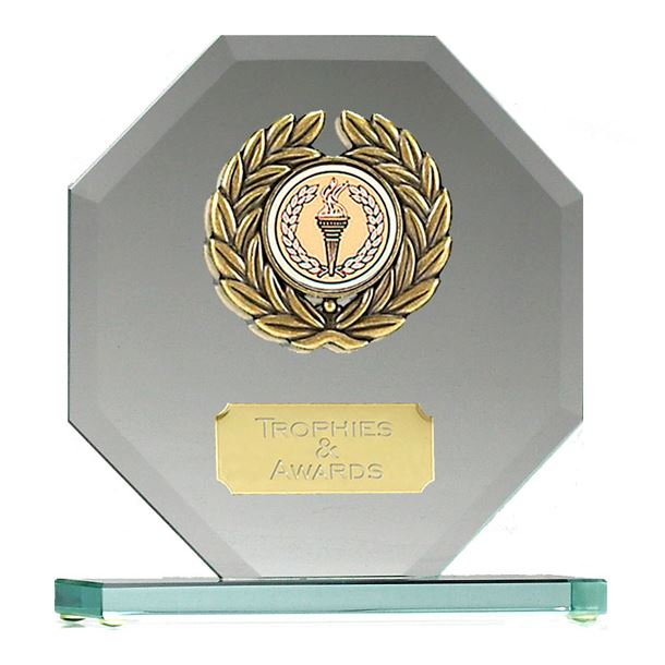"Glass Award Octagonal Design 15cm (6"")"
