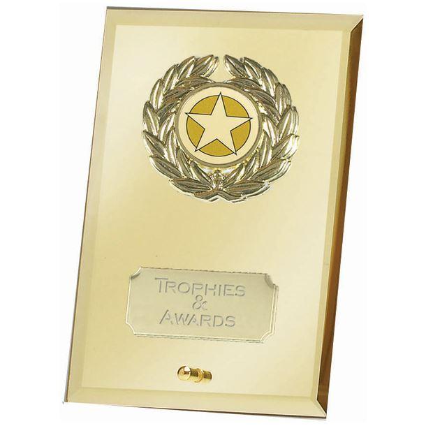 """Gold Crest Mirror Award15cm (6"""")"""