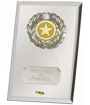"Silver Crest Mirror Award 15cm (6"")"