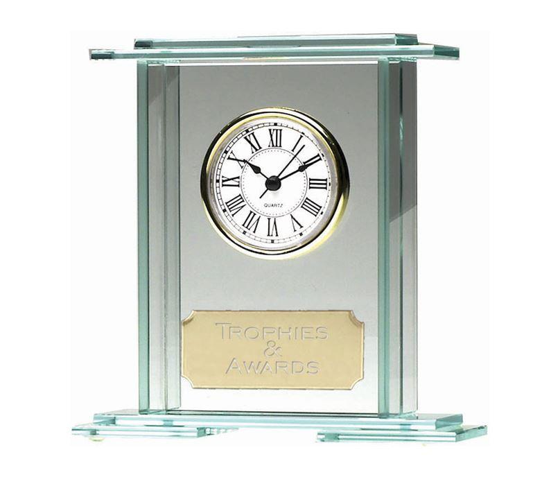 "Eternity Jade Glass Clock Award 18cm (7"")"