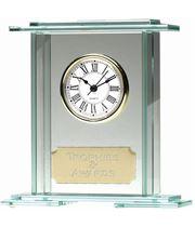 "Eternity Jade Glass Clock Award 16cm (6.25"")"