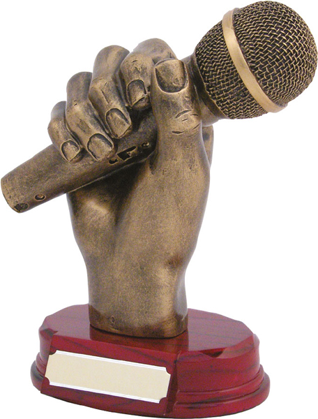 "Microphone Trophy 18cm (7"")"