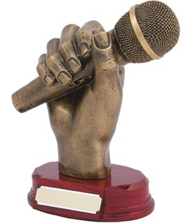 "Microphone Trophy 18cm (7"")"