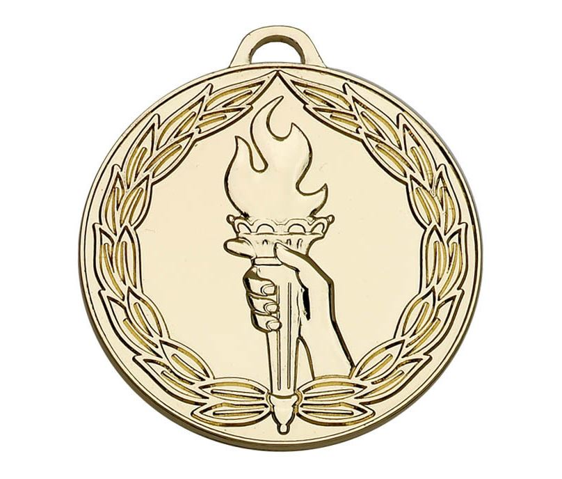 "Gold Classic Torch Medal 50mm (2"")"