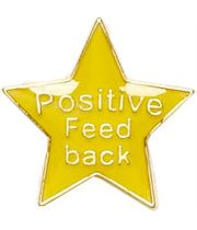 Positive Feedback Lapel Badge Yellow 20mm
