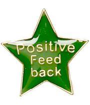 Positive Feedback Lapel Badge Green 20mm
