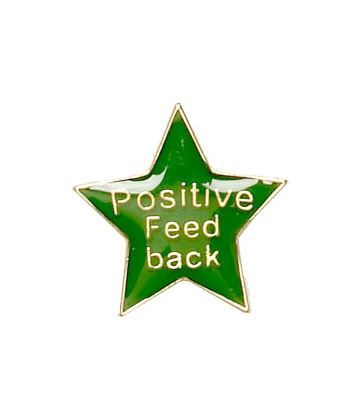 Positive Feedback Lapel Badge Green 20mm