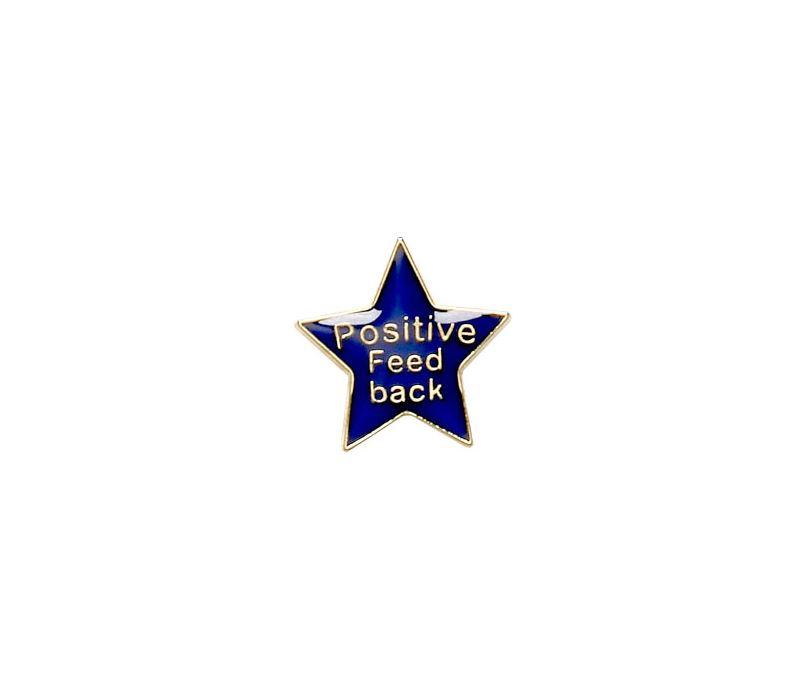 Positive Feedback Lapel Badge Blue 20mm