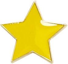 Yellow Star Shaped Lapel Badge 20mm